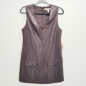 NWT FOREVER 21 Faux Leather Maroon Dress